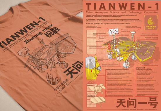 Tianwen-1 — инфографика и принты для футболок
